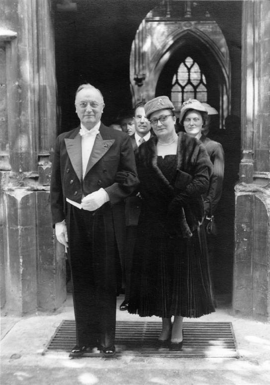Emile Bollaert au mariage de son fils cadet